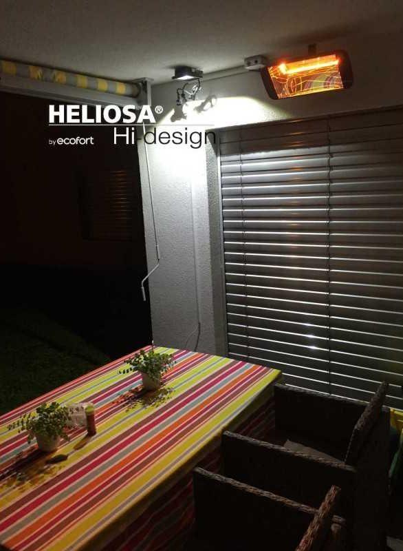 Heliosa 66 Infrarot-Heizstrahler auf der Terrasse