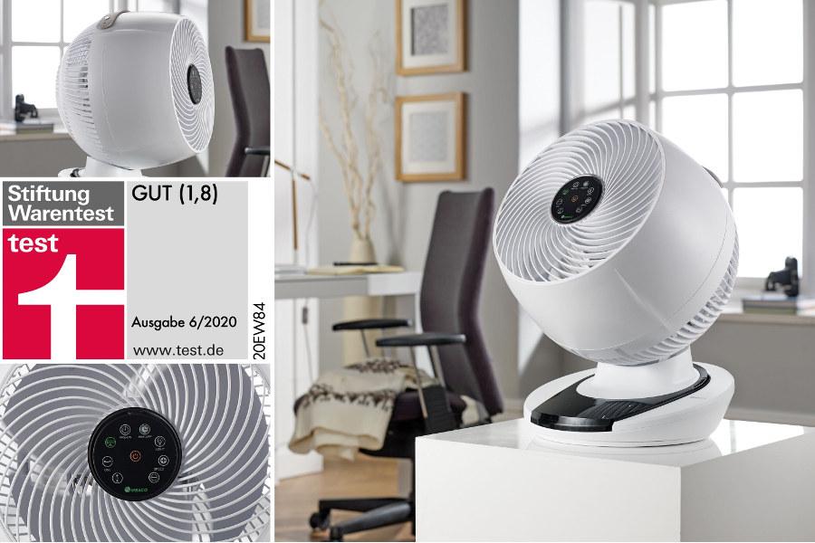 Meaco Air360° Ventilator - Sieger bei Stiftung Warentest