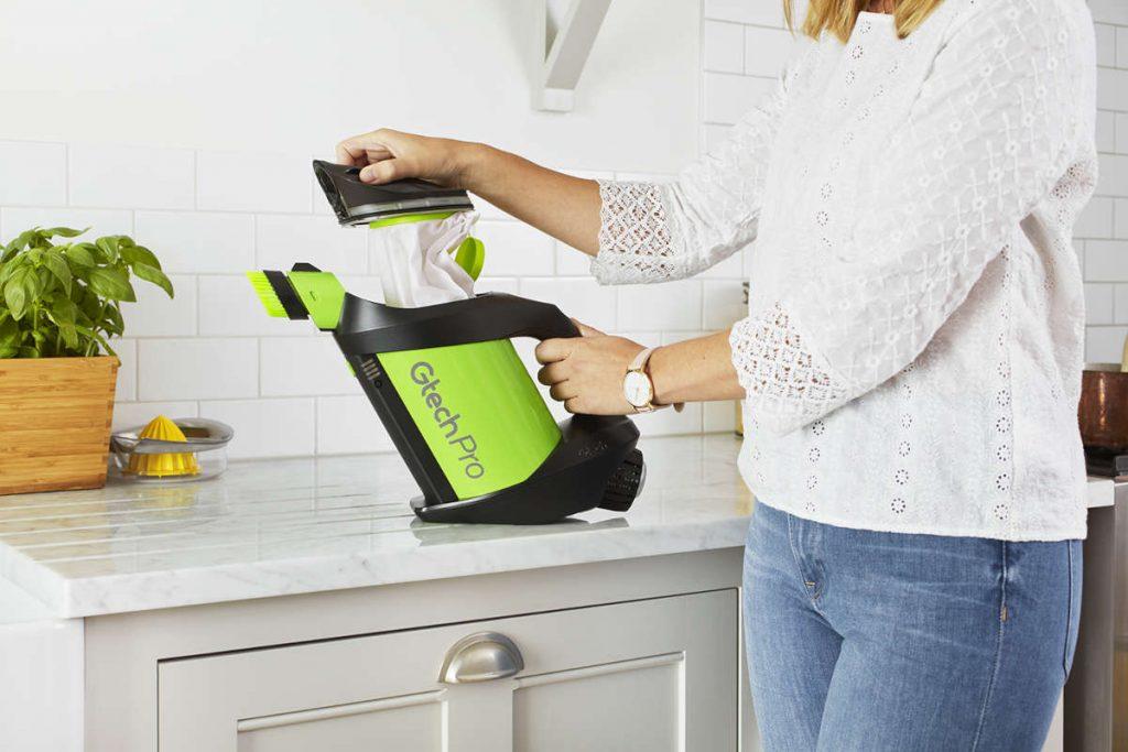 Die 3-lagigen Filterbeutel des Gtech Pro Bag 2 schliessen Staub, Schmutz und andere Verunreinigungen sicher ein.