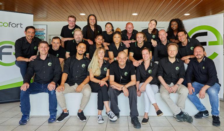 Das ecofort Team feiert 2021 10-jähriges Bestehen der Firma